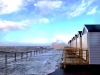 North sea crashes onto St Annes promenade Jan14 storm Lytham St Annes