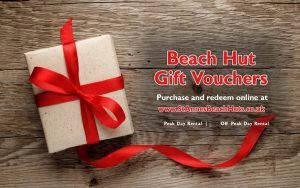 Beach Hut Rental Gift Voucher