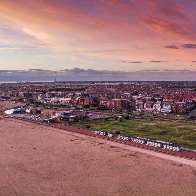 Nice image taken earlier tonight beachhuts stannes summer2017 seaside lancashirehellip
