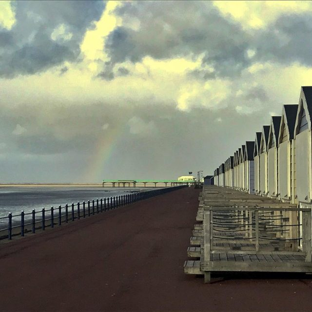 Beautiful rainbow just at the end of the pier