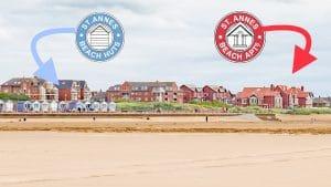 St Annes Beach Huts & Apartments - Location
