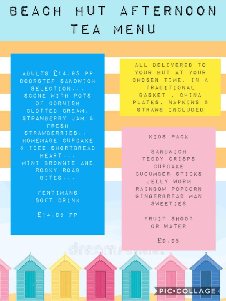 Afternoon-Tea | St Annes Beach Huts. Options for freshly prepared afternoon tea delivered to your beach hut. Selection of fresh sandwiches and cakes